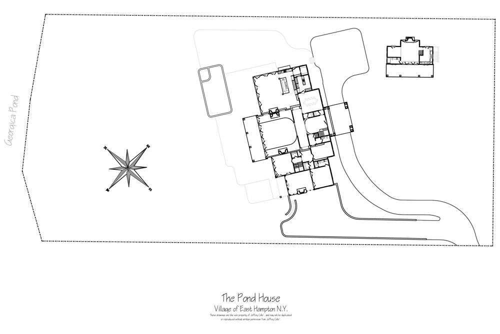 Hampton Luxury Pond House Site Plan